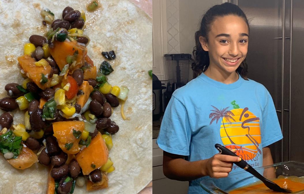 Sweet Potato Black Beans & Spinach Enchiladas