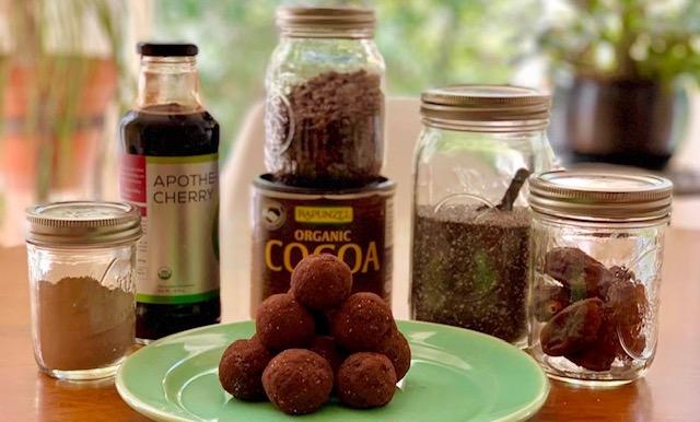 Cherry Chia Cacao Balls